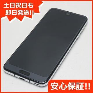 アクオス(AQUOS)の美品 SHV42 ブラック 本体 白ロム (スマートフォン本体)
