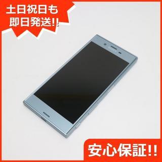エクスペリア(Xperia)の美品 au SOV35 Xperia XZs ブルー 白ロム(スマートフォン本体)
