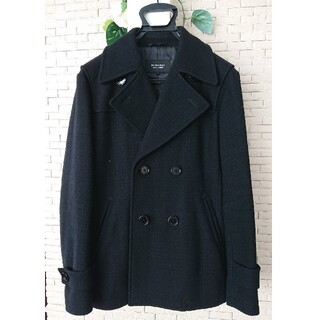 バーバリーブラックレーベル(BURBERRY BLACK LABEL)のバーバリー ブラックレーベル ジャケット コート 黒 ブラック Lサイズ(ピーコート)