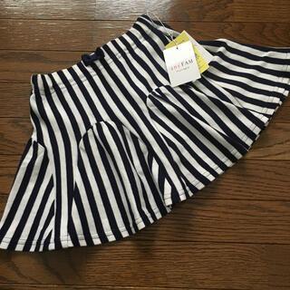 エニィファム(anyFAM)の新品(100㎝)■エニィファム/anyFAM■ネイビー×白ストライプスカート(スカート)