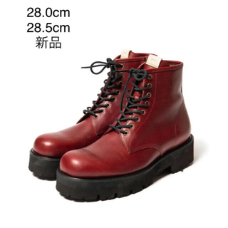 グラム(glamb)の新品/グラム glamb/ストラマーブーツ/レッド/28.0㎝、28.5㎝/④(ブーツ)