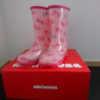 ミキハウス(mikihouse)のミキハウス 長靴 レインブーツ 20cm 女の子 リボン ピンク(長靴/レインシューズ)