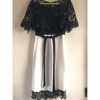 デイジーストア(dazzy store)のミニドレス👗dazzystore👗黒×白👗(ミニドレス)
