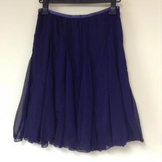 ボナジョルナータ(BUONA GIORNATA)のボナジョル シフォンスカート パープル(ミニスカート)