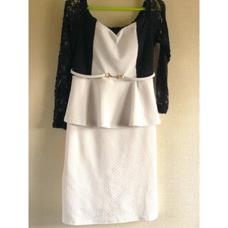 デイジーストア(dazzy store)のキャバドレス👗dazzystore👗白×黒(ナイトドレス)