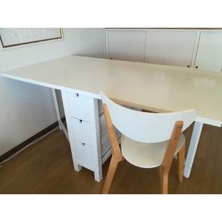 イケア(IKEA)の【手仕事屋★くるみの木様専用】IKEAノールデン ダイニングテーブル(ダイニングテーブル)