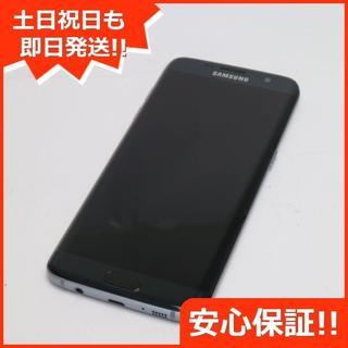 ギャラクシー(Galaxy)の美品 SIMフリー GALAXY S7 edge ブラック (スマートフォン本体)