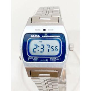 アルバ(ALBA)のアルバ ALBA デジタル レトロ クォーツ時計 稼働中(腕時計)