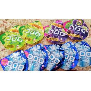 ユーハミカクトウ(UHA味覚糖)のコロロ ソーダ グレープ マスカット 9袋(菓子/デザート)