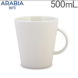 アラビア(ARABIA)のARABIA アラビア マグカップ   KoKo ココ ホワイト(グラス/カップ)
