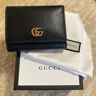 グッチ(Gucci)のGUCCI  プチ マーモント レザー 三つ折りウォレット(財布)