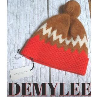 ドゥーズィエムクラス(DEUXIEME CLASSE)の【新品未使用】DEMYLEE(デミリー) ロンハーマン ニット帽 オレンジ(ニット帽/ビーニー)