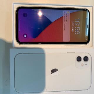 アップル(Apple)の美品 SIMフリー iphone11 128GB バッテリー95%(スマートフォン本体)