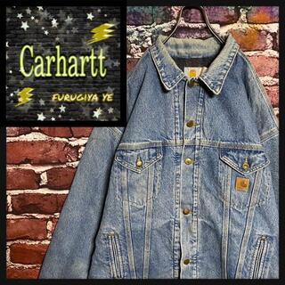 カーハート(carhartt)のカーハート デニムジャケット ワンポイントロゴ 革タグ cd61(Gジャン/デニムジャケット)