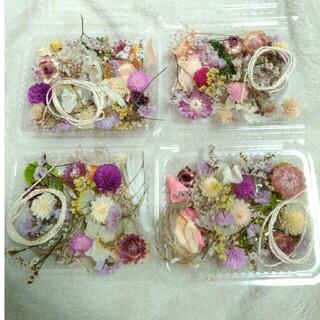 訳あり 1パック300円 ドライフラワー 貝殻草 千日紅 スターチスなど  花材(ドライフラワー)