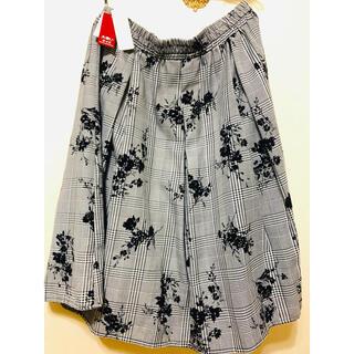 (新品紙タグ付き)大きいサイズ4Lフレアースカート(ひざ丈スカート)