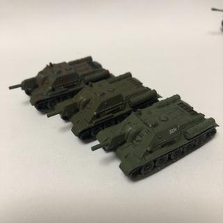 カイヨウドウ(海洋堂)のSU-122 全3種セット ワールドタンクミュージアム7弾 ソビエト軍(模型/プラモデル)
