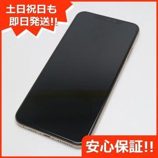 アイフォーン(iPhone)の美品 SIMフリー iPhoneXS MAX 512GB ゴールド 本体 (スマートフォン本体)