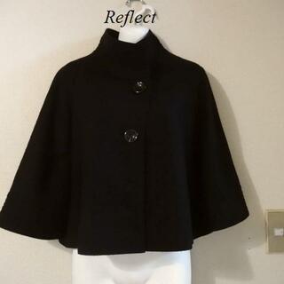 リフレクト(ReFLEcT)のReflectリフレクト♡毛100%柔らか濃黒ショートコート(ノーカラージャケット)