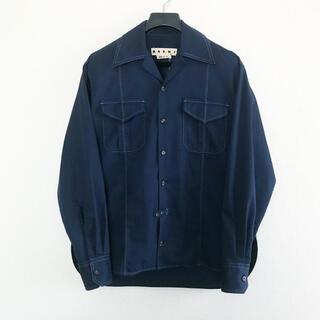 マルニ(Marni)のMARNI 19aw サファリポケットキャンバスシャツ46(シャツ)