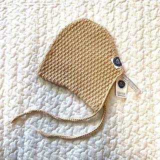 キャラメルベビー&チャイルド(Caramel baby&child )の新品未使用◎ルプチジェルマン ベージュニットボンネット(帽子)