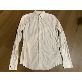 エルメス(Hermes)の【37】Hermesエルメスボタンダウンシャツ白ワイシャツ美中古(シャツ)