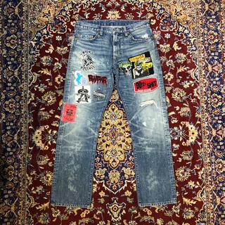 アンダーカバー(UNDERCOVER)のVINTAGE punk-culture emblem jeans(デニム/ジーンズ)
