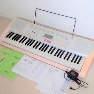 カシオ(CASIO)の電子キーボード☆カシオ 光ナビ ピンク(電子ピアノ)