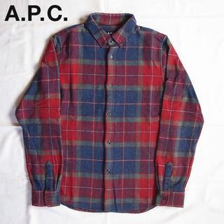 アーペーセー(A.P.C)のS A.P.C. ウール チェックシャツ(シャツ)