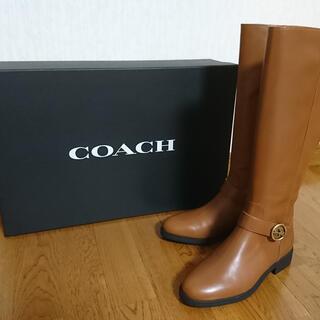 コーチ(COACH)の新品 COACH ロングブーツ(ブーツ)