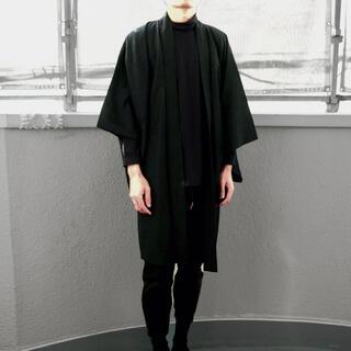 美しいシルエット◇メンズ羽織り 和装 和服 アンティーク メンズ着物 男性用(着物)
