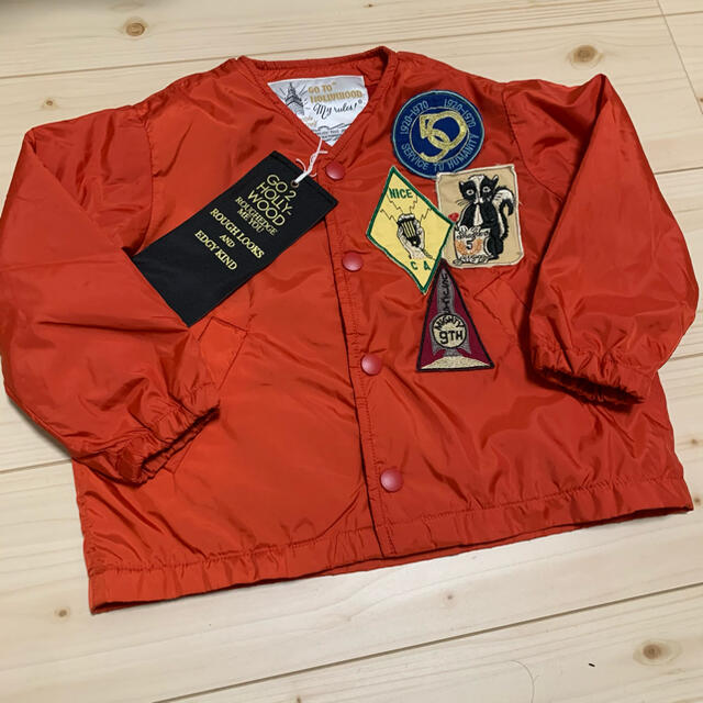 GO TO HOLLYWOOD(ゴートゥーハリウッド)のgotohollywood ジャケット レッド 100cm キッズ/ベビー/マタニティのキッズ服女の子用(90cm~)(ジャケット/上着)の商品写真