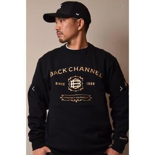 バックチャンネル(Back Channel)のBackChannel  LABEL CREW SWEAT 新品未使用(スウェット)