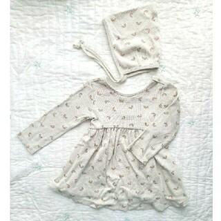 こどもビームス - Quincy mae  dress&bonnet 12-18m