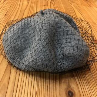 ロペピクニック(Rope' Picnic)のベレー帽★ロペピクニック★グレー★編み付き(ハンチング/ベレー帽)