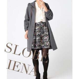 イエナスローブ(IENA SLOBE)のIENA SLOBE 36 花柄 フレアスカート(ミニスカート)