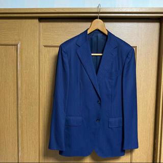 ユナイテッドアローズ(UNITED ARROWS)のUNITED ARROWS  ネイビーストライプ スーツ 46 M【 日本製 】(セットアップ)