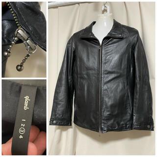 グラム(glamb)のglamb グラム 羊革 シープレザー シングルライダース 3 L ブラック 黒(ライダースジャケット)