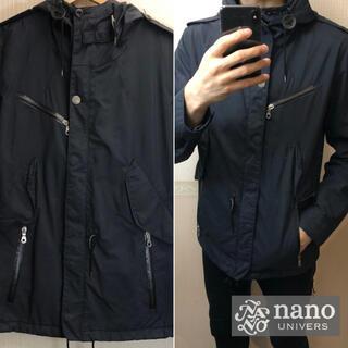 ナノユニバース(nano・universe)のnanouniversナノユニバースマウンテンパーカー黒コート黒ジャケットメンズ(マウンテンパーカー)