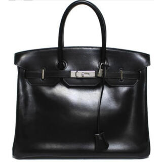 エルメス(Hermes)の美品 HERMES エルメス バーキン35 ボックス ハンドバッグ  黒(ハンドバッグ)