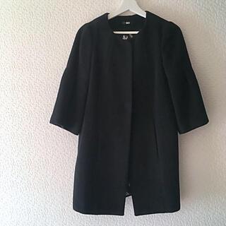 エディットフォールル(EDIT.FOR LULU)のsly ノーカラーコート ロングコート 黒 ブラック moussy(ロングコート)