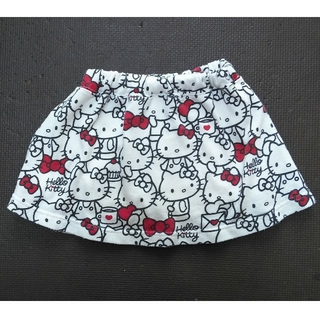 サンリオ(サンリオ)のハローキティ スカート パンツ付き 100 白(スカート)