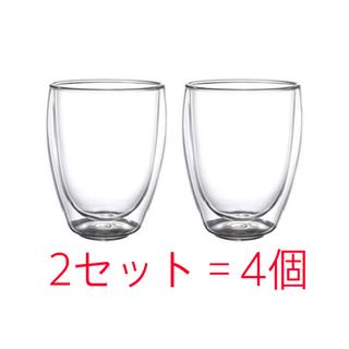 イケア(IKEA)のIKEA PASSERAD パッセラド 耐熱二重グラス 2個×2セット=4個(グラス/カップ)