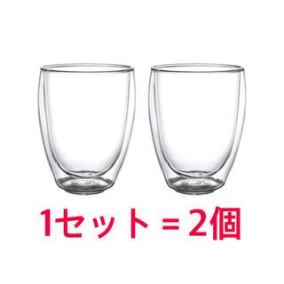 イケア(IKEA)のIKEA PASSERAD パッセラド 耐熱二重グラス 2個(グラス/カップ)