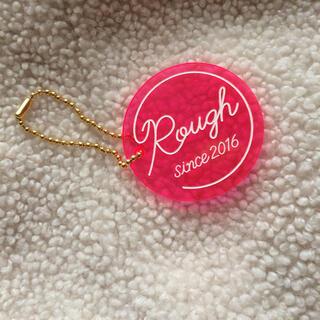 ラフ(rough)のアクリル ピンク シースルー 透明 Rough ラフ キーホルダー (キーホルダー)