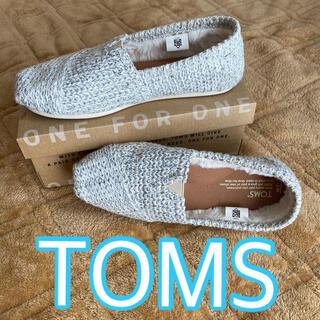 トムズ(TOMS)のトムズ TOMS レディース ホワイト グレー(スリッポン/モカシン)