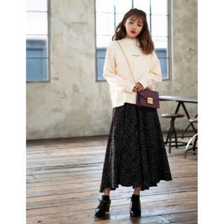 グレイル(GRL)のGRL ドット スカート ブラック 完売品(ロングスカート)