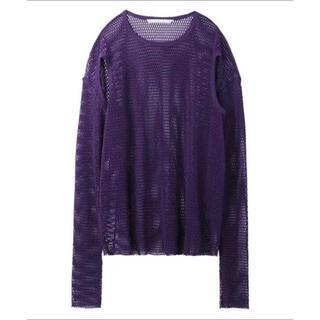 ジョンローレンスサリバン(JOHN LAWRENCE SULLIVAN)のJOHNLAWRENCESULLIVAN 20ss メッシュインナー 紫(Tシャツ/カットソー(半袖/袖なし))