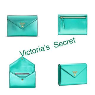 ヴィクトリアズシークレット(Victoria's Secret)のヴィクトリアシークレット新品ミニウォレットエメラルド(財布)