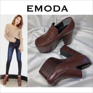 エモダ(EMODA)のEMODA ボリュームウッドローファー 靴*ムルーア GYDA ENVYM(ローファー/革靴)